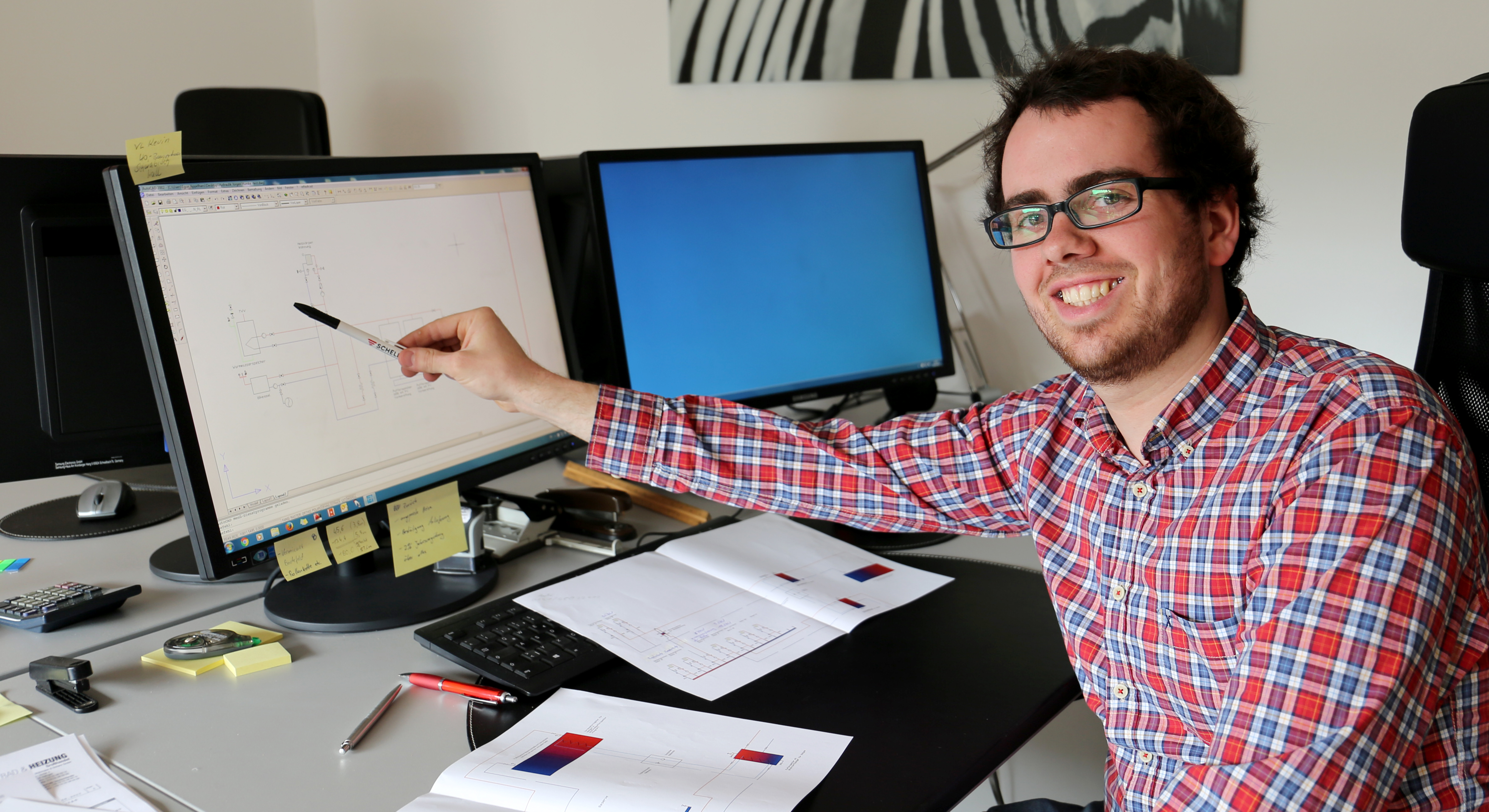 Jakob Appelhans bei der Arbeit im Büro