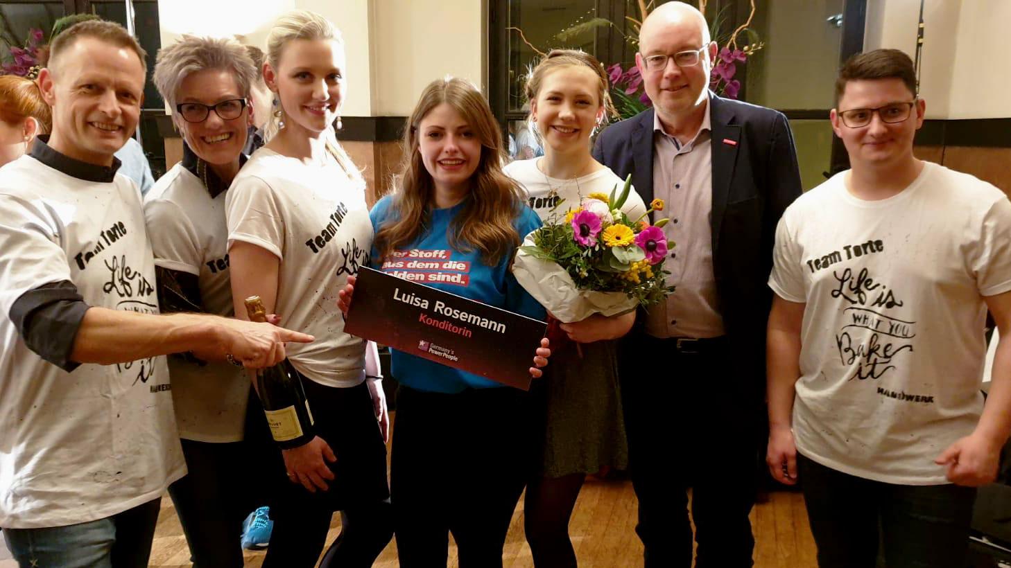 Luisa Rosemann strahlt - auch wenn sie nicht Miss Handwerk 2020 ist